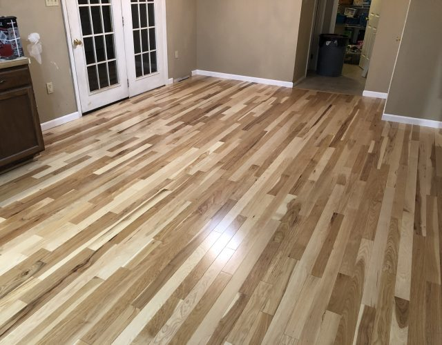 new flooring installation