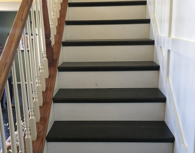 vinyl plank staircase