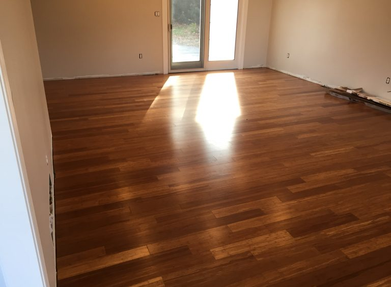 laminated wood flooring in living room