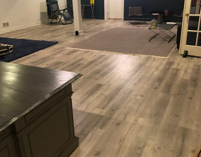 new hardwood floor in basement