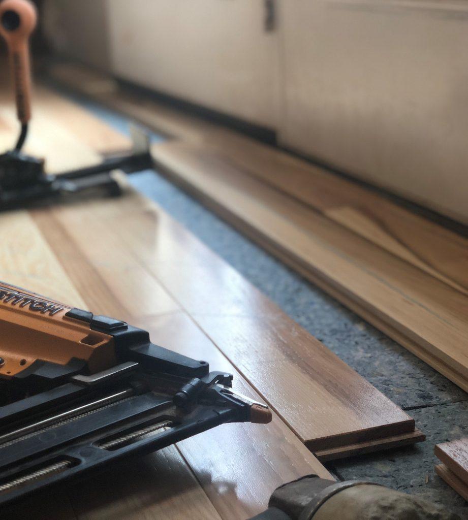 hardwood floor being installed in ephrata pa