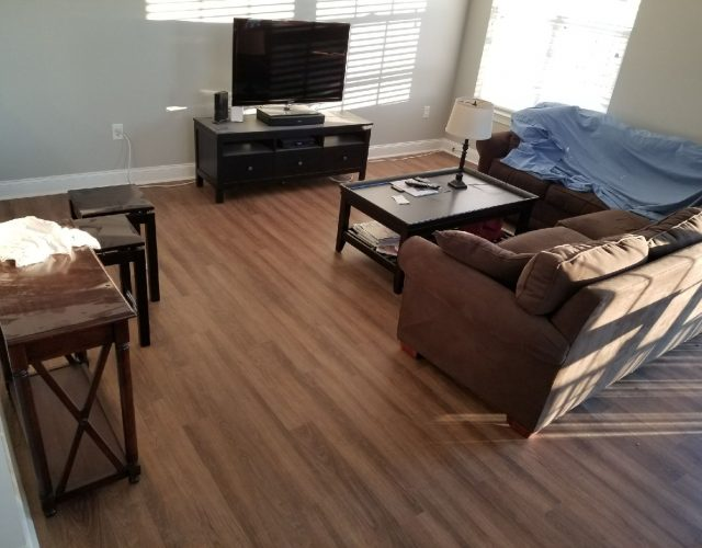 light laminate floor in living room