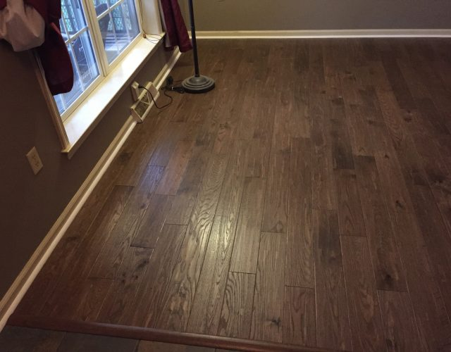 dark hardwood flooring in house room