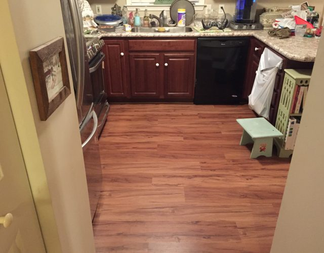 vinyl hardwood flooring in kitchen