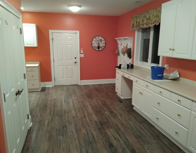 vinyl plank wood flooring in kitchen