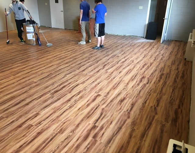 light hardwood laminated floor in room in home