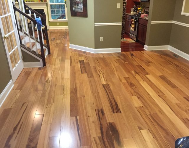 light hardwood vinyl flooring on first floor house