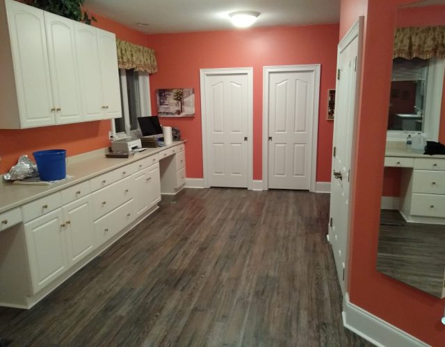 vinyl wood flooring in kitchen