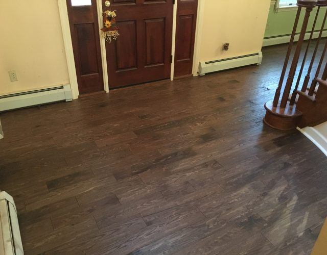 vinyl plank flooring in entrance way