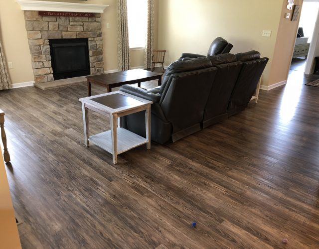 vinyl wood flooring in living room