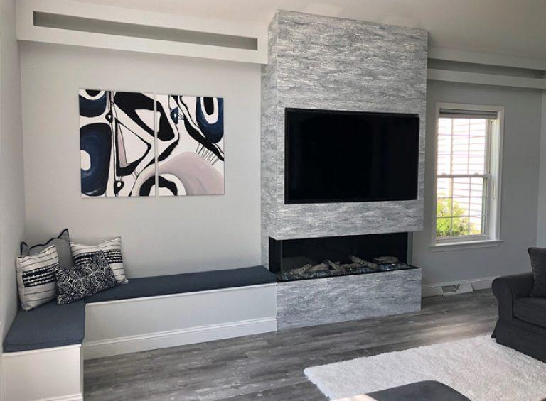 vinyl plank flooring in living room floor